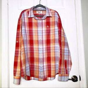 Penguin Plaid Roll Tab Sleeve Button Down